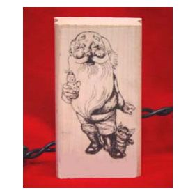 Santa with Kitten Art Rubber Stamp