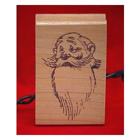 Santa Face Christmas Scrapbooking Stamp