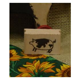 Spotted Pig Art Rubber Stamp