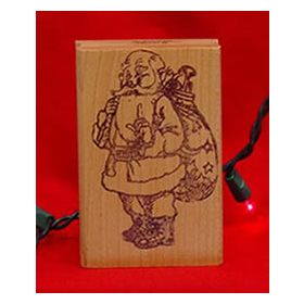 Santa with Sack Art Rubber Stamp