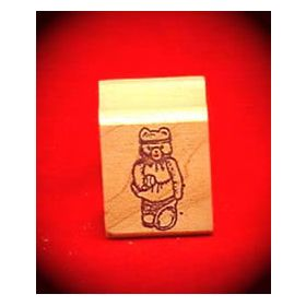 Girl Tennis Bear Art Rubber Stamp