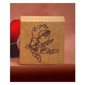 Cool Cupid with Bow and Arrow Art Rubber Stamp