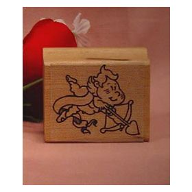 Cupid with Bow Art Rubber Stamp