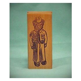 Bear Policeman Art Rubber Stamp
