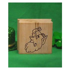 Leprechaun Head Art Rubber Stamp