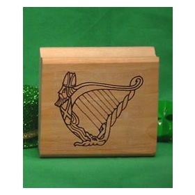 Harp Art Rubber Stamp