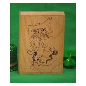 Leprechaun Standing Art Rubber Stamp
