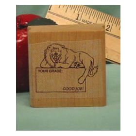 Your Grade/Good Job Art Rubber Stamp