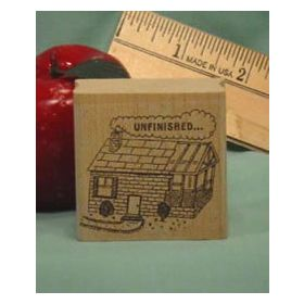 Unfinished Art Rubber Stamp