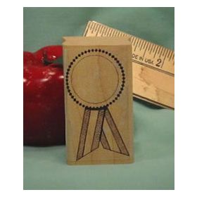 Blank Blue Ribbon Art Rubber Stamp
