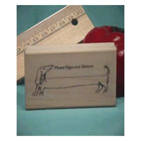Sign and Return Art Rubber Stamp