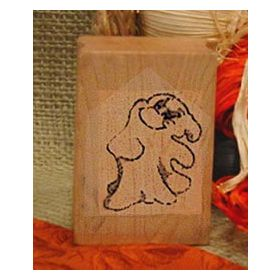 Friendly Ghost Art Rubber Stamp