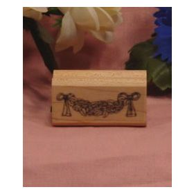 Flower Swag Art Rubber Stamp