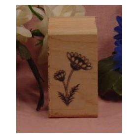 Daisies with Stem Art Rubber Stamp