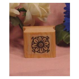 Flower Pattern Art Rubber Stamp