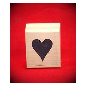 Heart on Card Art Rubber Stamp
