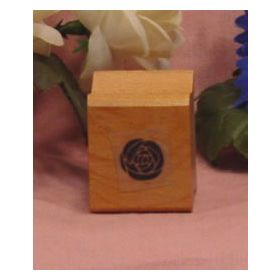 Single Solid Flower Art Rubber Stamp