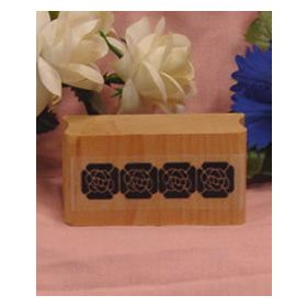 Solid Flowers Border Art Rubber Stamp