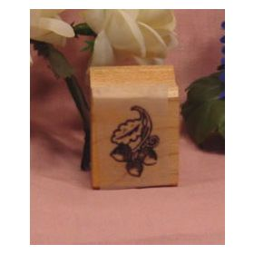 Trio of Acorn's Art Rubber Stamp