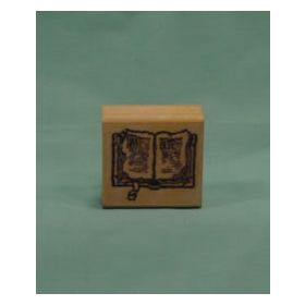 Open Bible Art Rubber Stamp