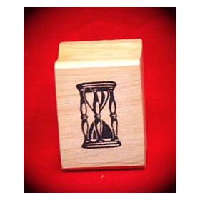 Hourglass Art Rubber Stamp
