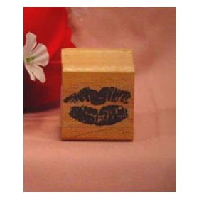 Lips Art Rubber Stamp