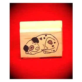 Sleeping Puppy Art Rubber Stamp
