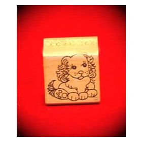 Cocker spaniel Puppy Art Rubber Stamp
