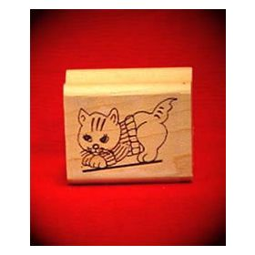 Kitten Art Rubber Stamp