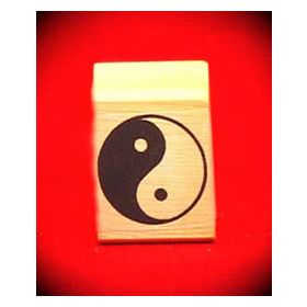 Yin/Yang Art Rubber Stamp