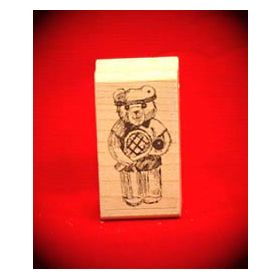 Boy Tennis Bear Art Rubber Stamp