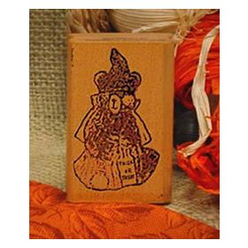 Bear Witch Art Rubber Stamp