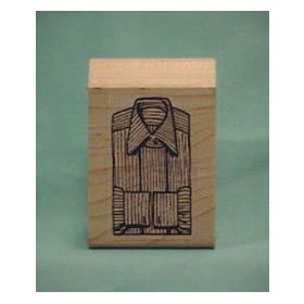 Single Stripe Shirt Front Art Rubber Stamp