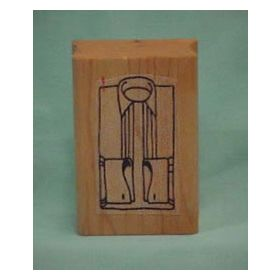Formal Shirt Front Art Rubber Stamp