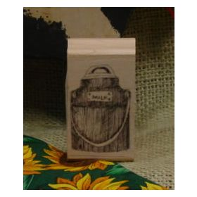 Milk Can Art Rubber Stamp