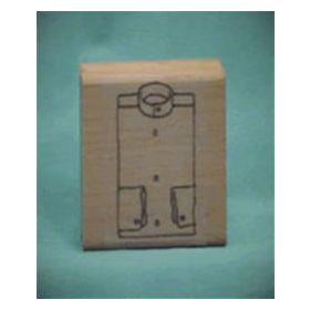 Solid Collarless Shirt Front Art Rubber Stamp