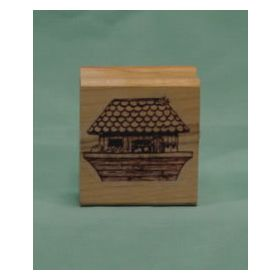Small Ark with Animals Art Rubber Stamp