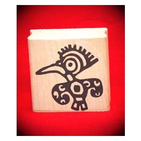 Bird Art Rubber Stamp