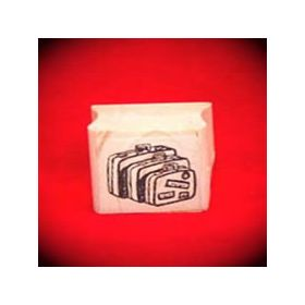 Suitcases Art Rubber Stamp