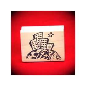 Skyscrapers Art Rubber Stamp