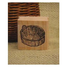 Round Basket Scrapbooking Stamp