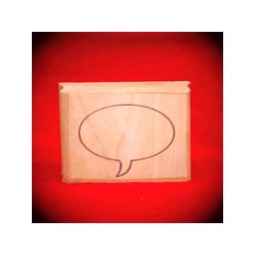 Large Right Thought Balloon Oval Art Rubber Stamp