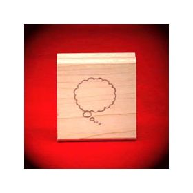 Small Left Thought Cloud Art Rubber Stamp