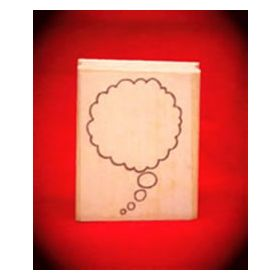 Large Right Thought Cloud Art Rubber Stamp