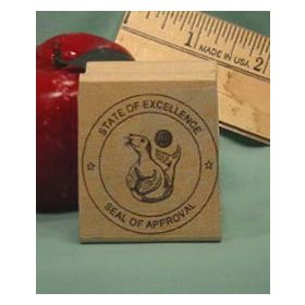 Seal of Approval Art Rubber Stamp