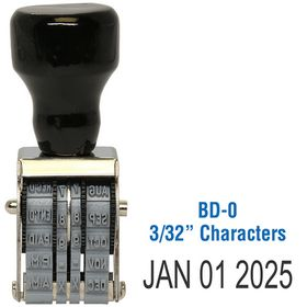 Line Date Stamp Size 3/32 Characters