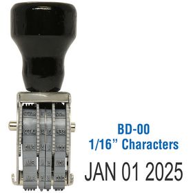 Line Date Stamp Size 1/16 Characters