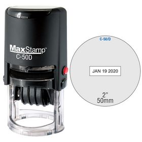 Self Inking C-50 Date Stamp Size 2 Diameter