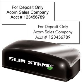 3 Line Slim Check Endorsement Stamp