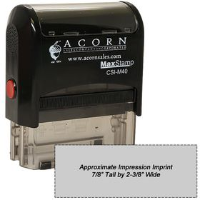 Self Inking Stamp M40 Size 7/8 x 2-3/8
